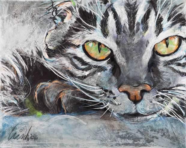 Tiermalerei-Katze